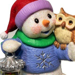 Hallmark Snow Buddies Snowman & Owl Keepsake